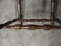 Set of 6 Red Walnut Captain's Chairs by W. Walker & Son (3 of 11)