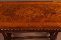 Super Quality Victorian Burr Walnut & Marquetry Card Table (4 of 12)