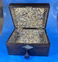 Victorian Ebonised Jewellery Box with Mother of Pearl & Abalone Inlay (5 of 18)