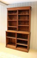 Solid Oak Open Cabinet Bookcase (10 of 11)