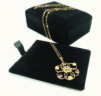 Antique Hallmarked Gold Almandine Garnet Pedant With Necklace (3 of 8)