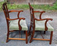 1920s Pair of Mahogany Carver Chairs with Pop-out Seats (2 of 3)
