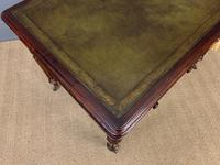 Victorian Mahogany 2 Drawer Reeded Leg Writing Table (7 of 15)