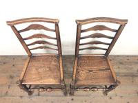 Pair of Antique Ladder Back Chairs (2 of 8)