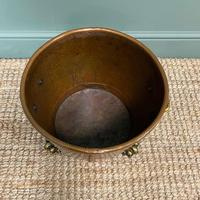 Spectacular 19th Century Victorian Arts & Crafts Antique Copper Log Bucket (5 of 7)