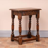 Carved Oak Joint Stool (3 of 15)