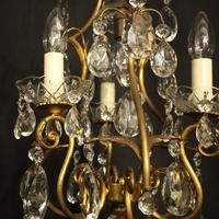 French Gilded Birdcage 4 Light Antique Chandelier (6 of 10)