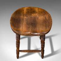 Antique Artist's Stool, English, Beech, Ash, Saddle Seat, Victorian c.1900 (9 of 12)