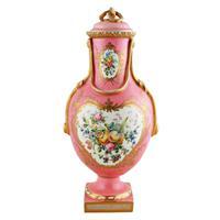 Victorian Coalport Porcelain Vase & Cover (2 of 8)