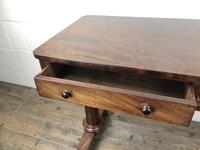 Victorian Mahogany Two Drawer Side or Console Table (13 of 17)