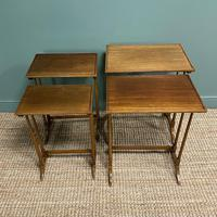 Edwardian Mellow Walnut Nest of Four Antique Tables (2 of 5)