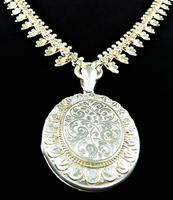 Magnificent Sterling Silver Pendant with Original Chain