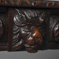 Antique Oak Flemish Writing Table (7 of 15)