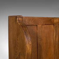 Antique Two Seat Settle, English, Oak, Pine, Ecclesiastic, Pew, Bench, Victorian (8 of 10)