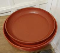 Pair of North African Folk Art Hand Made Red Ochre Dishes (2 of 6)