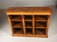A Sophisticated Mid 19th Century Walnut Dwarf Open Bookcase (2 of 5)