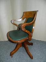 Oak Desk Chair - Adjustable (4 of 7)