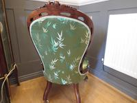 Carved Walnut Ladies Chair New Upholstery (4 of 7)