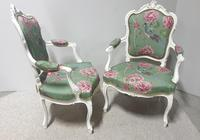 Wonderful Pair of French Painted Chairs (9 of 13)