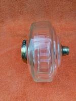 Antique Cut 12 Faceted Glass Oil Lamp Font / Fount Hicks & Sons Bayonet Collar (9 of 12)