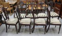 1960's Mahogany Set 8 Wheatcheaf Dining chairs with Pop out Seats (3 of 3)