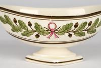 Wedgwood Etruria Acorn Pattern Creamware Pottery Salt 1882 (9 of 11)