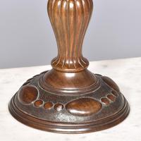 Inlaid & Carved Walnut Tazza (2 of 3)