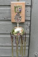 Edwardian Victory Brass Dinner Chime or Conservatory Hanging Wind Chime Circa 1905 (5 of 5)