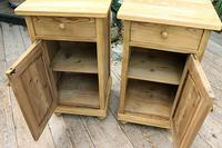 Fabulous! Pair of Old Stripped Pine Bedside Cabinets / Cupboards - We Deliver! (4 of 9)