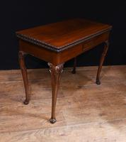 Georgian style Card Table Mahogany Games Tables 1880 (7 of 8)