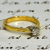 The Vintage 1982 18ct Gold Diamond Solitaire Ring (2 of 4)