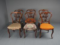 Set of 6 Mid Victorian Rosewood Dining Chairs (11 of 14)