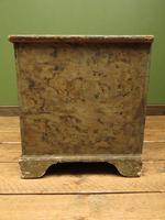 Large Antique Old Painted Green Distressed Pine Trunk Chest, Rustic Blanket Box (8 of 18)