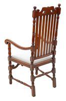 Oak Armchair Elbow Desk Chair C1915 Charles II Style (3 of 8)