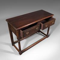 Antique Dresser Base, English, Oak, Side, Hall, Table, Late Georgian c.1800 (8 of 10)