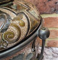 Superb Doulton Lambeth Oil Lamp by Mark V Marshall, 1881 (4 of 18)