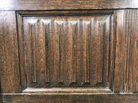 Early 20th Century Panelled Oak Coffer (4 of 8)