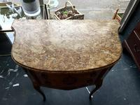 French Walnut Commode with Marble Top & Metal Marquetry (2 of 7)