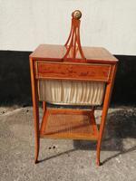 Beautiful Sheraton Revival Satinwood Sewing Table (11 of 11)