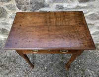 18th Century Georgian Oak Pad Foot Side Table (11 of 15)