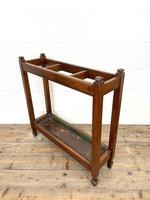 Antique Mahogany Three Section Stick Stand (3 of 8)