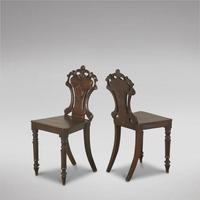 Pair of 19th Century Hall Chairs (3 of 3)