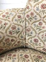 Victorian Three Piece Suite with Gold Floral Upholstery (6 of 26)