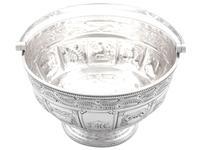 Sterling Silver Three Piece Zodiac Tea Service - Antique Victorian 1882 (12 of 24)
