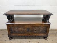 Antique Carved Oak Monk's Bench (6 of 10)