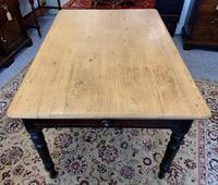Antique Victorian Pine Farmhouse Table with Drawer (7 of 16)