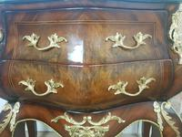 Antique French Italian Bombe, Rococo Style Chest of Drawers (4 of 9)