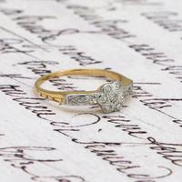 The Antique Nine Diamond Daisy Ring (2 of 5)