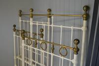 Matching Pair of Victorian Beds, 3ft Single Brass & Iron Bedsteads (6 of 12)