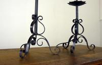 Pretty Little Vintage Wrought Iron Table Lamp - We Have 10 (4 of 9)